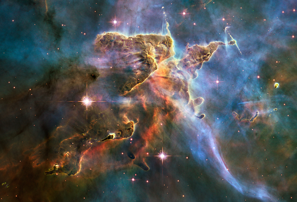 Phoenix Rising. Carina Nebula. NASA Hubble