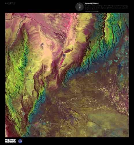 Sierra de Velasco, Argeentina. USGS Eartg as Art