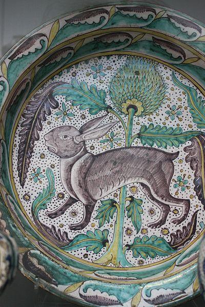 Hare and artichoke  basin. Valerie McGlinchey wiki