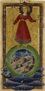 XXI The World. Charles VI Tarot. wikimedia