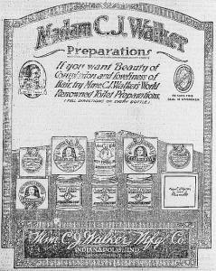 Madam C. J. Walker Preparations. Library of Congress print